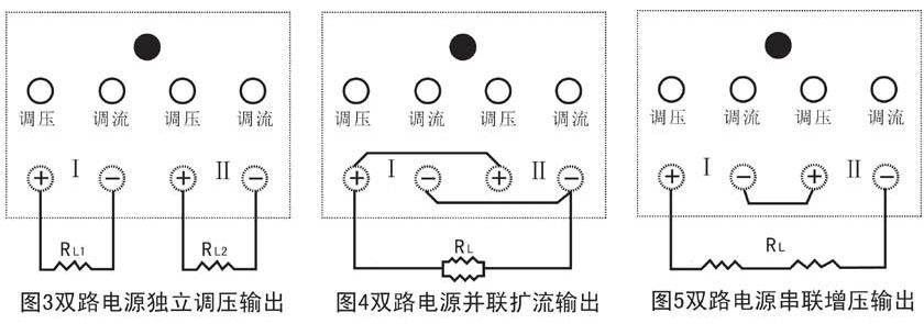 双路直流电源串并联示意图 双路直流电源串并联示意图