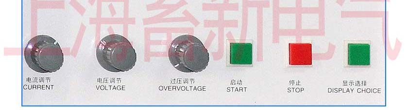 大功率线性直流电源面板示意图